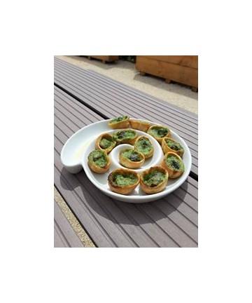 escargots en croquilles à la farce bourguignonne